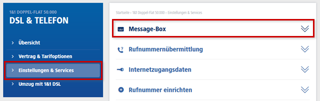 Message-Box anklicken